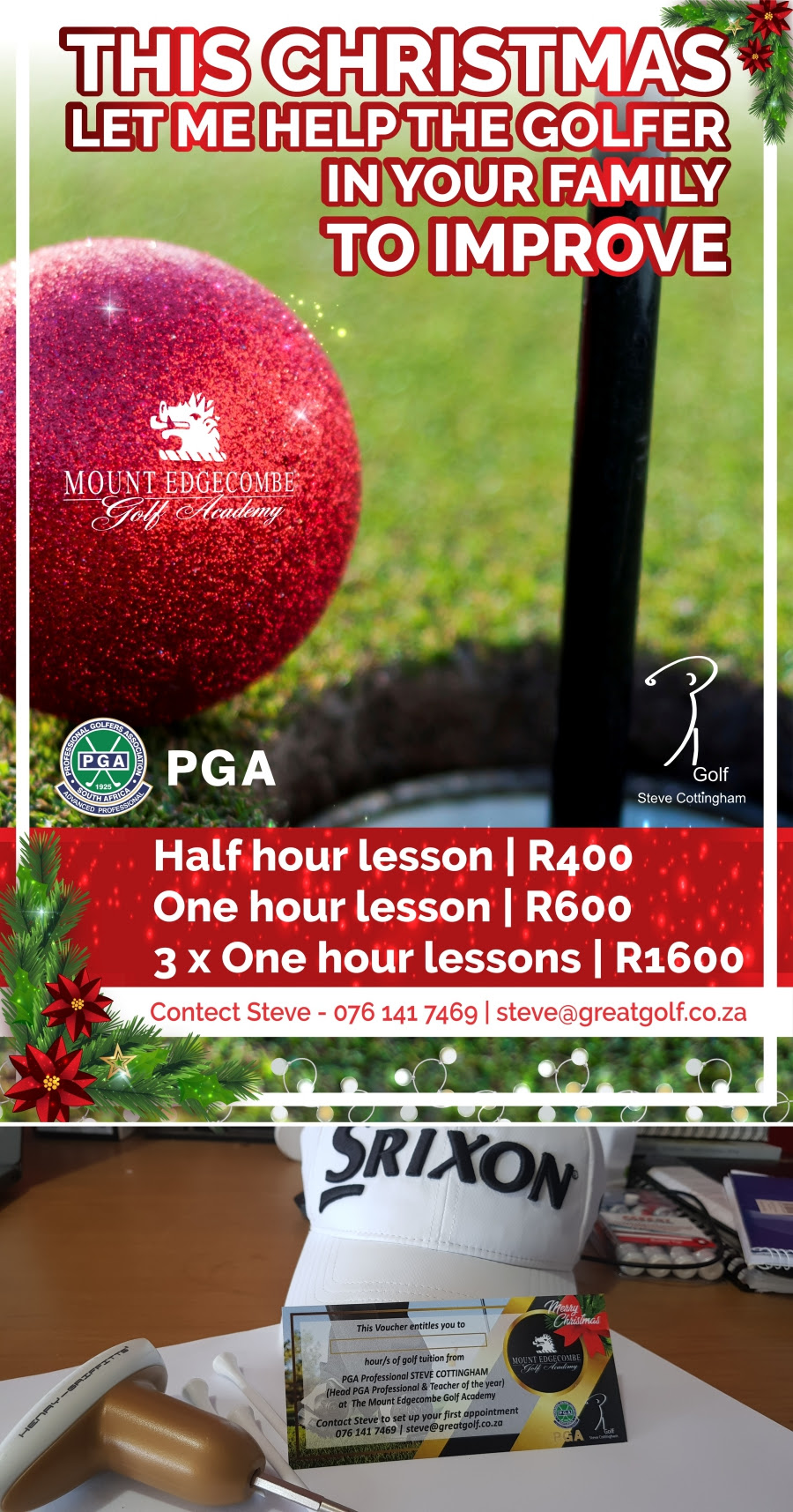golf lesson vouchers